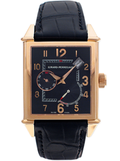 Girard-Perregaux Vintage 1945 Rose Gold Power Reserve Men's Watch Preowned-25850.0.52.6456