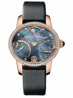 Girard Perregaux Cats Eye Bi-Retro 18K Rose Gold & Diamonds Ladies Watch Preowned-80485D52A661-JK6A