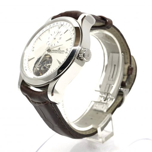Jaeger LeCoultre Master Tourbillon Stainless Steel Men's Watch, Preowned-146.8.34.S 4