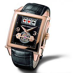 Girard Perregaux Vintage 1945 Slot Machine Tourbillon 18K Rose Gold Men's Watch 99720-52-651-BA6A
