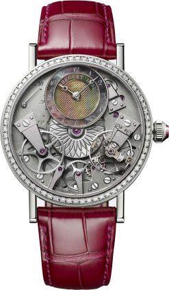 Brequet Tradition Dame 7038 18K White Gold & Diamonds Ladies Watch 7038BB/1T/9V6/D00D