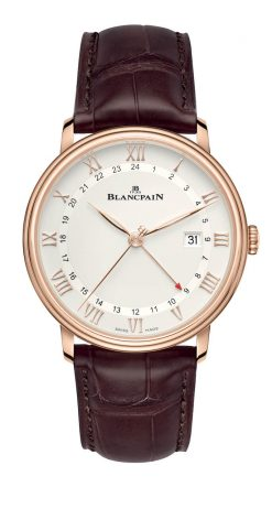 Blancpain Villeret GMT 18K Rose Gold Men's Watch 6662-3642-55A