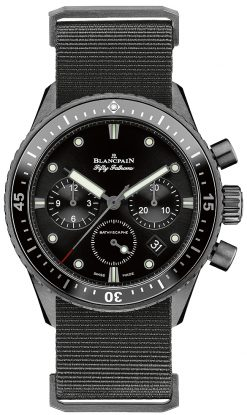 Blancpain Fifty Fathoms Bathyscaphe Flyback Chronograph Ceramic Men's Watch 5200-0130-NABA