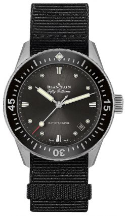 Blancpain Fifty Fathoms Bathyscaphe Stainless Steel Men's Watch 5100B-1110-NABA