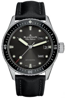Blancpain Fifty Fathoms Bathyscaphe Annual Calendar Stainless Steel Men's Watch 5071-1110-B52A