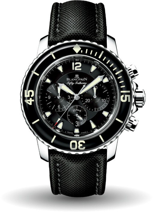 Blancpain Fifty Fathoms Chronograph Stainless Steel Men's Watch, Preowned-5085F-1130-52A