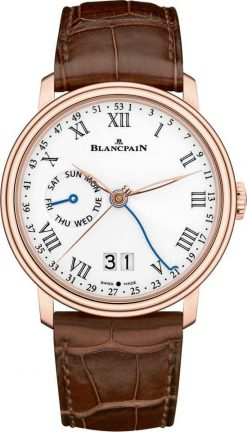 Blancpain Villeret Large Date 18K Rose Gold Men's Watch 6637-3631-55B