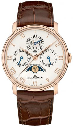 Blancpain Villeret Quantieme Perpetuel 18K Rose Gold Men's Watch 6656-3642-55B