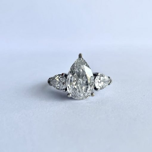 White Gold Ladies Pear Brilliant Ring, Pear-Brilliant-Ring-WG 2