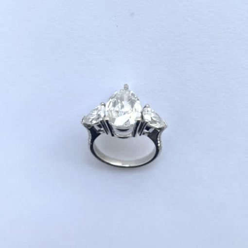 White Gold Ladies Pear Brilliant Ring, Pear-Brilliant-Ring-WG 9
