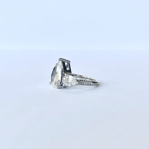 White Gold Ladies Pear Brilliant Ring, Pear-Brilliant-Ring-WG 4