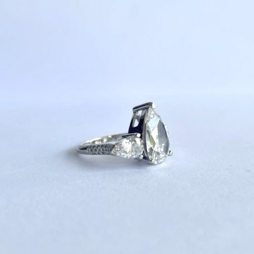 White Gold Ladies Pear Brilliant Ring, Pear-Brilliant-Ring-WG 6