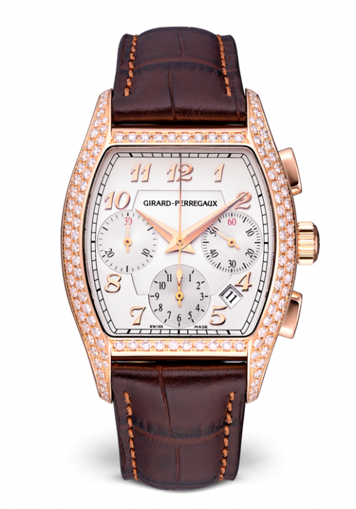 Girard Perregaux Richeville Chronograph 18K Rose Gold Ladies Watch, Preowned-27650