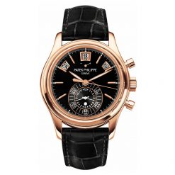 Patek Philippe Annual Calendar Chronograph 18K Rose Gold Men`s Watch Preowned-5960R-012