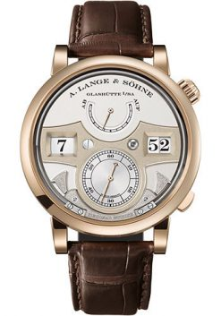 A. Lange and Sohne Zeitwerk Decimal Strike Honeygold 18K Yellow Gold Men's Watch 143.050