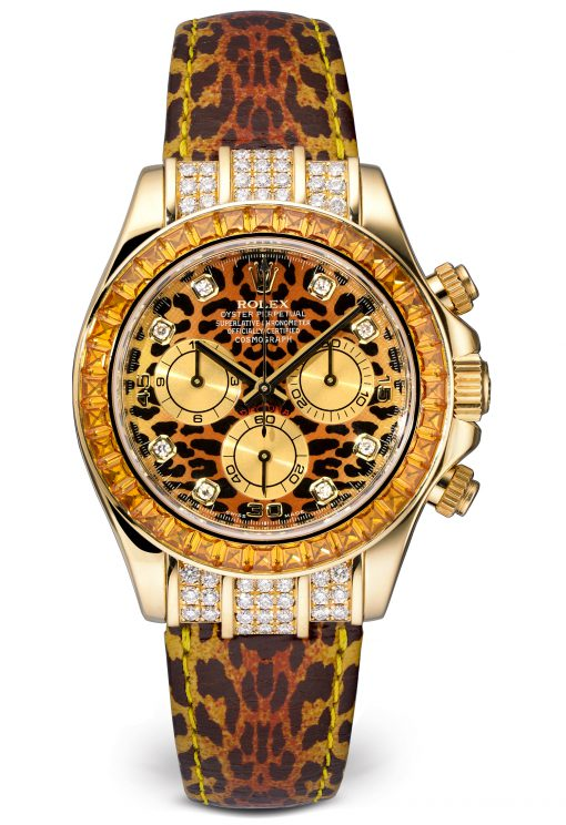 Rolex Leopard Daytona Cosmograph 18K Yellow Gold Watch, Preowned-116598SACO