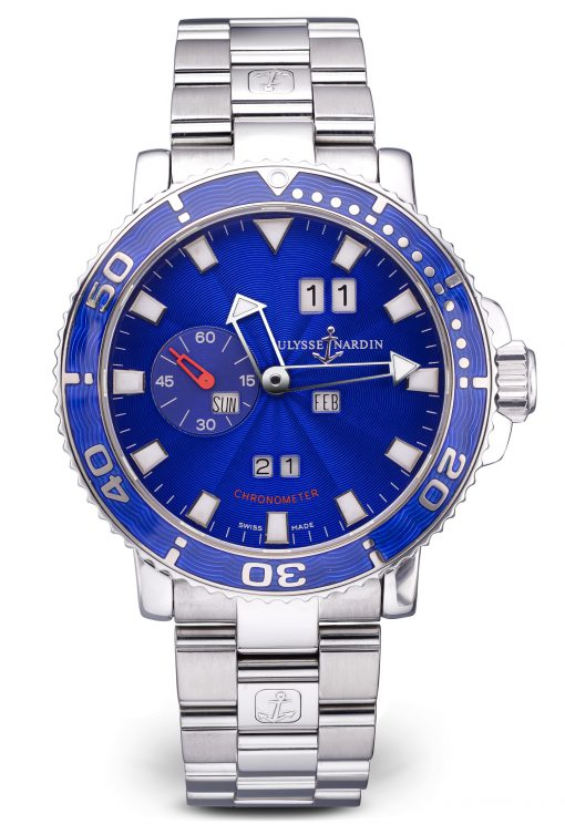 Ulysse Nardin Marine Perpetual Calendar Limited Edition Stainless Steel Men's Watch, Preowned-333-77-7