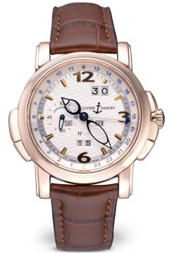 Ulysse Nardin GMT Perpetual Limited Edition 18K Rose Gold Men's Watch Preowned-322-66/91