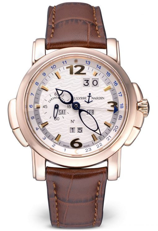 Ulysse Nardin GMT Perpetual Limited Edition 18K Rose Gold Men's Watch, Preowned-322-66/91