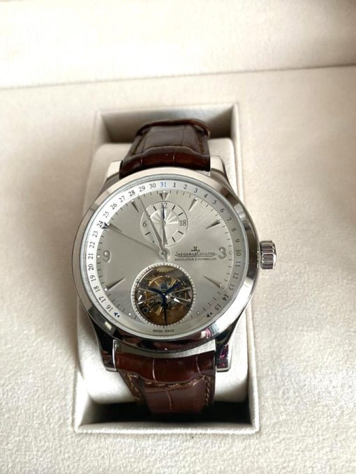 Jaeger LeCoultre Master Tourbillon Stainless Steel Men's Watch, Preowned-146.8.34.S 2