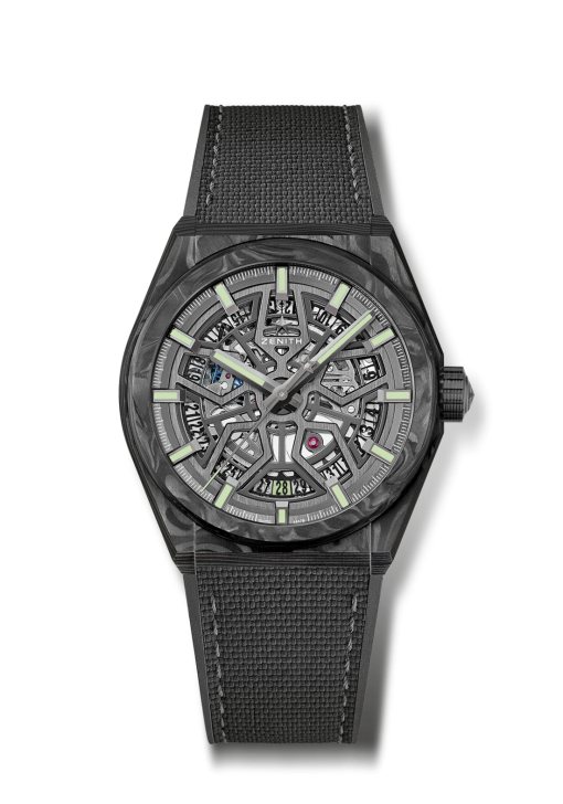 Zenith Defy Classic Skeleton Black Carbon Men's Watch, 10.9000.670/80.R795
