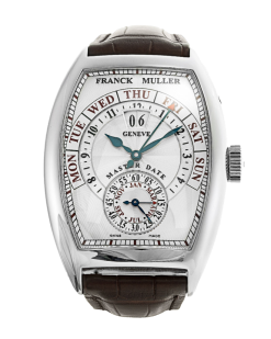 Franck Muller Cintree Curvex Master Date 18K White Gold Men's Watch Preowned-8880 S6 GG DT