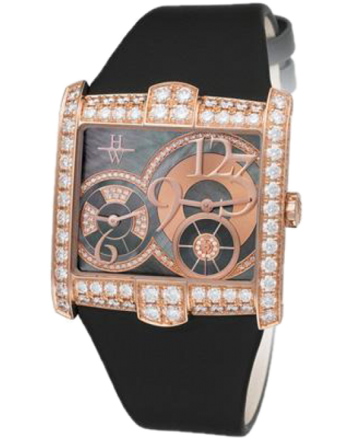 Harry Winston Avenue Squared 18K Rose Gold Diamonds Ladies Watch, Preowned-350-LQTZRL.MKD2-00