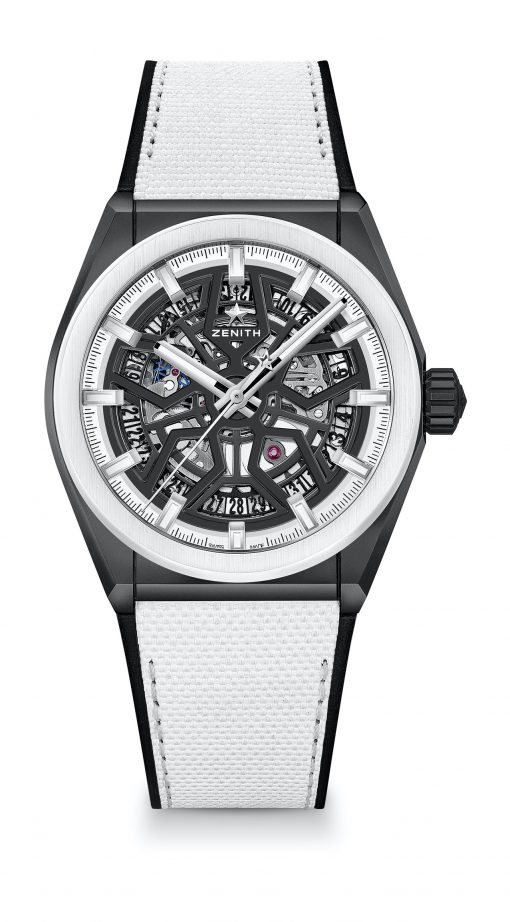 Zenith Defy Classic Skeleton Black and White Edition Ceramic Men's Watch, 49.9005.670/11.R943