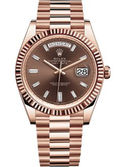 Rolex Oyster Perpetual President Day-Date 18K Everose Gold & Diamonds Unisex Watch 228235