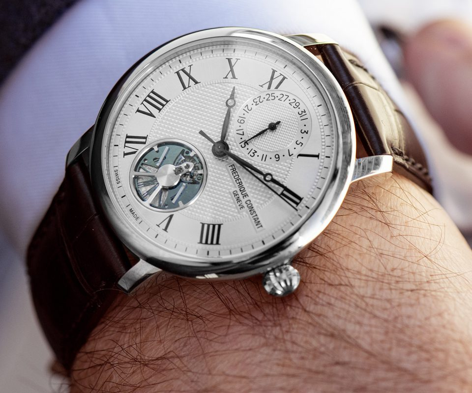 Frederique Constant Debuts Limited-Edition Slimline Monolithic Manufacture Watch with Silicon Oscillator Balance