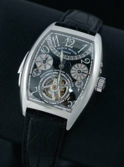 Franck Muller Cintree Curvex Tourbillon Platinum Men's Watch Preowned-7885 RMT QP