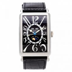 Franck Muller Long Island Master Calendar 18K White Gold Men's Watch Preowned-1200 MC L Black Dial