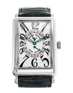Franck Muller Long Island Double Retrograde Second 18K White Gold Men's Watch Preowned-1100 DS R
