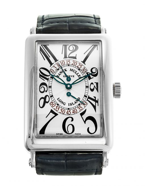 Franck Muller Long Island Double Retrograde Second 18K White Gold Men's Watch, Preowned-1100 DS R