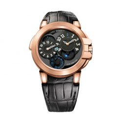 Harry Winston Ocean Dual Time 18K Rose Gold Men's Watch preowned-OCEATZ44RR005