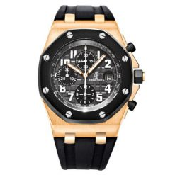 Audemars Piguet Royal Oak Offshore Chronograph 18K Rose Gold & Rubber Men's Watch Preowned-25940ОK.OO.D002CA.01
