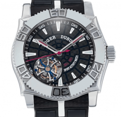 Roger Dubuis Easy Diver Flying Tourbillon Stainless Steel Limited Edition Men's Watch Preowned-SE4805/9/0K9
