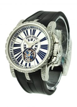 Roger Dubuis Excalibur Flying Tourbillon Stainless Steel & Diamonds Limited Ladies Watch Preowned-Excalibur