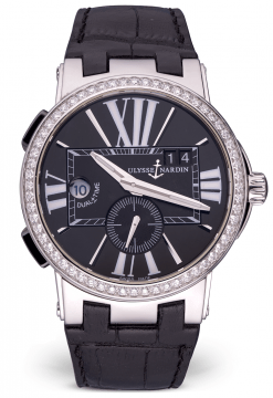 Ulysse Nardin Executive Dual Time Stainless Steel & Diamonds Men's Watch Preowned-243-00B/42