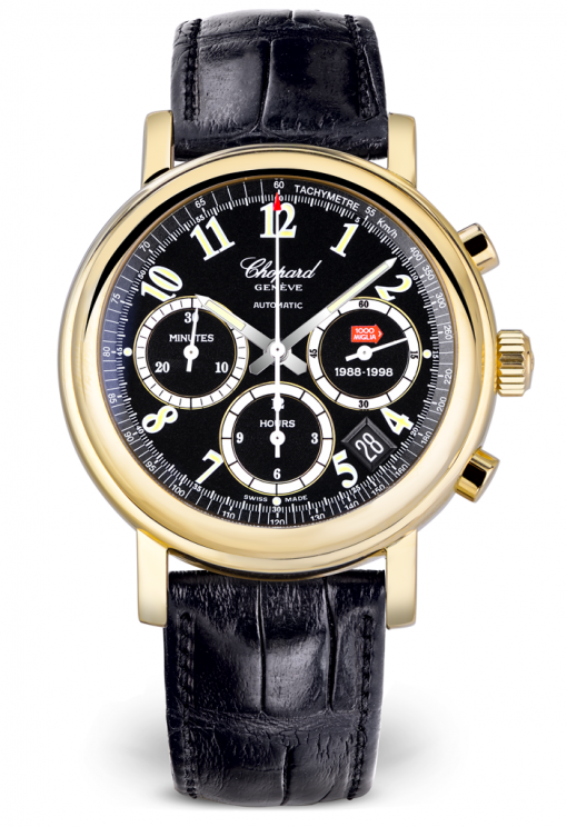 Chopard Mille Miglia Chronograph 18K Yellow Gold Men's Watch, Preowned-161250-0001