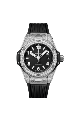Hublot Big Bang 33mm One Click Stainless Steel Pave Watch 485.SX.1170.RX.1604