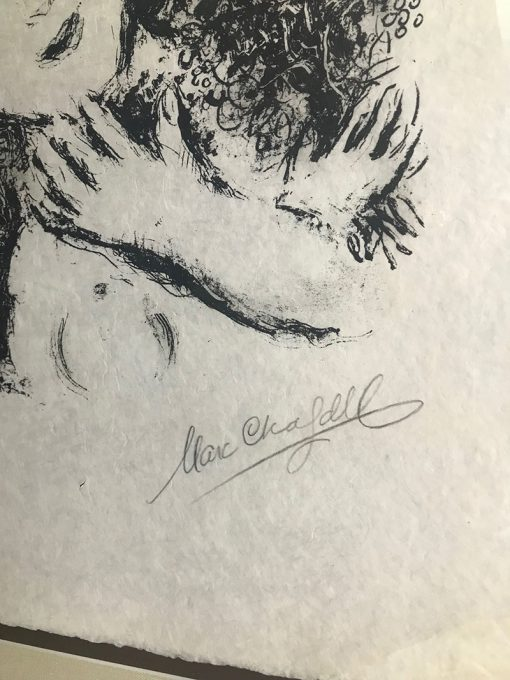Marc Chagall, Couple With Angels, 1979, art-lithograph-couple-with-angels 4