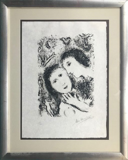 Marc Chagall, Couple With Angels, 1979, art-lithograph-couple-with-angels 3