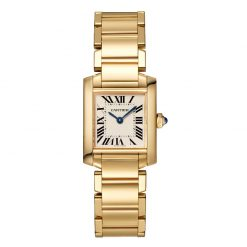 Cartier Tank Francaise Small Model 18K Yellow Gold Lady's Watch WGTA0031
