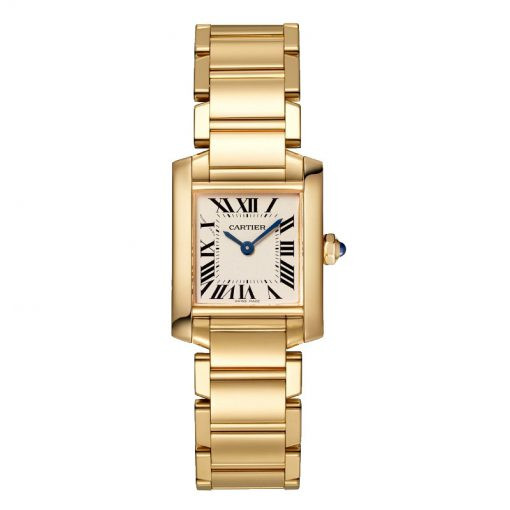 Cartier Tank Francaise Small Model 18K Yellow Gold Lady's Watch, WGTA0031