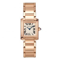 Cartier Tank Francaise Small Model 18K Rose Gold Lady's Watch WGTA0029