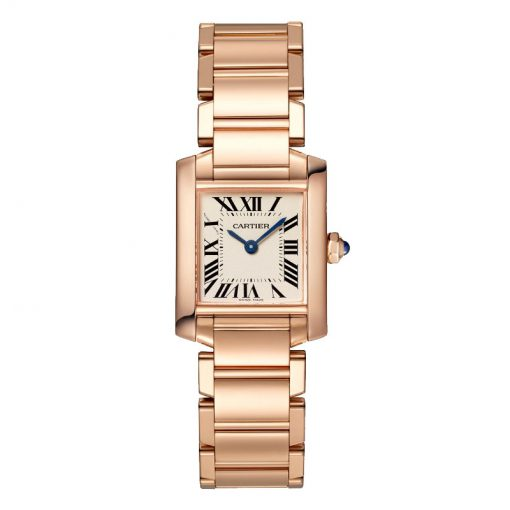 Cartier Tank Francaise Small Model 18K Rose Gold Lady's Watch, WGTA0029