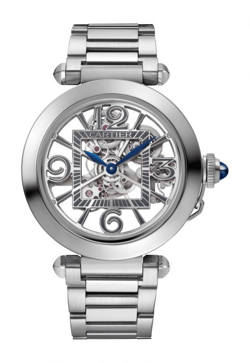 Cartier Pasha de Cartier Stainless Steel 41mm Skeleton Unisex Watch, WHPA0007
