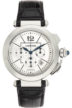 Cartier Pasha Chronograph 42mm Stainless Steel Men's Watch W3108555