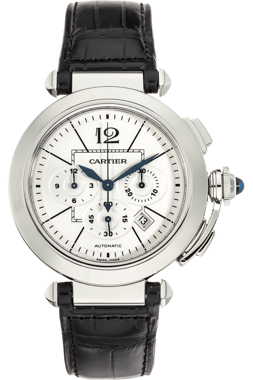 Cartier Pasha Chronograph 42mm Stainless Steel Men's Watch, W3108555